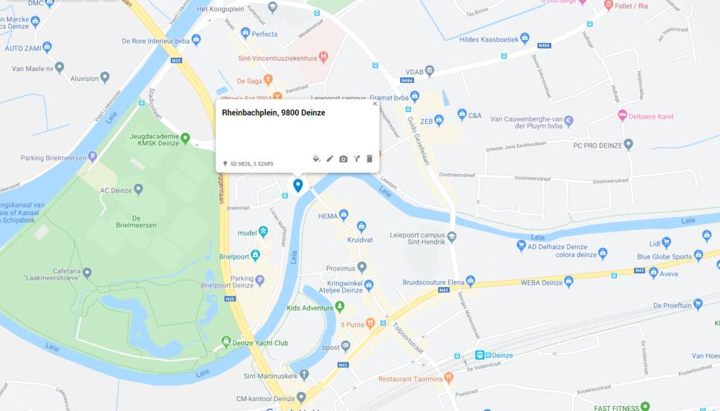Vertrekpunt 2: Rheinbachplein, Deinze